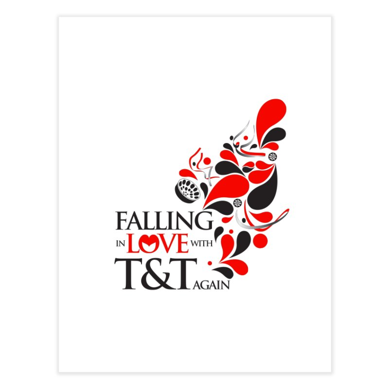 Falling in Love Main logo Home Fine Art Print by WACK 90.1fm Merchandise Store