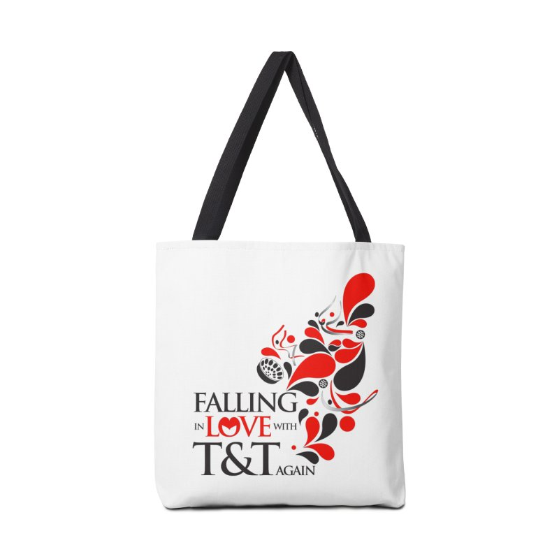 Falling in Love Main logo Accessories Tote Bag Bag by WACK 90.1fm Merchandise Store