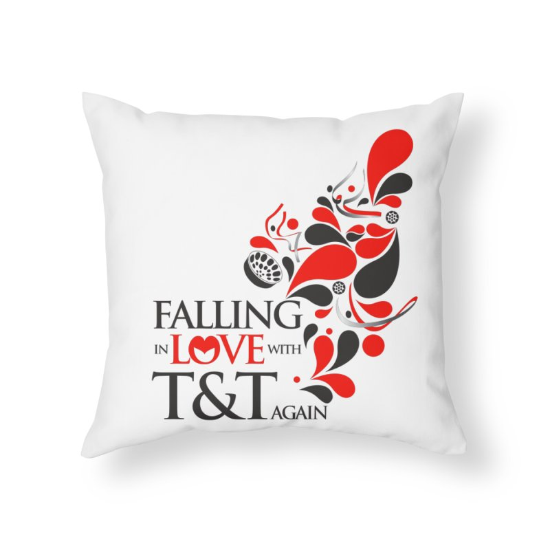 Falling in Love Main logo Home Throw Pillow by WACK 90.1fm Merchandise Store