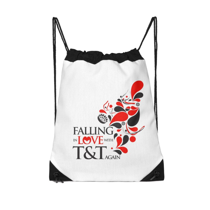 Falling in Love Main logo Accessories Drawstring Bag Bag by WACK 90.1fm Merchandise Store