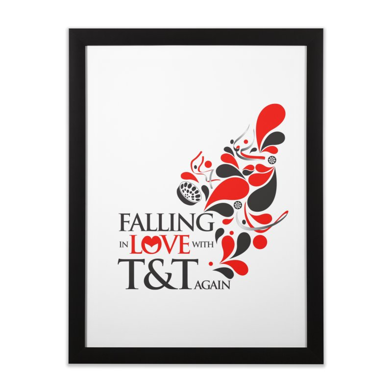 Falling in Love Main logo Home Framed Fine Art Print by WACK 90.1fm Merchandise Store