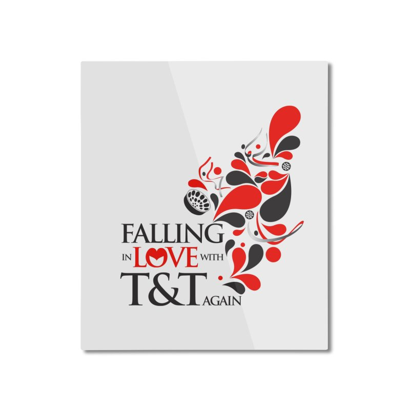 Falling in Love Main logo Home Mounted Aluminum Print by WACK 90.1fm Merchandise Store