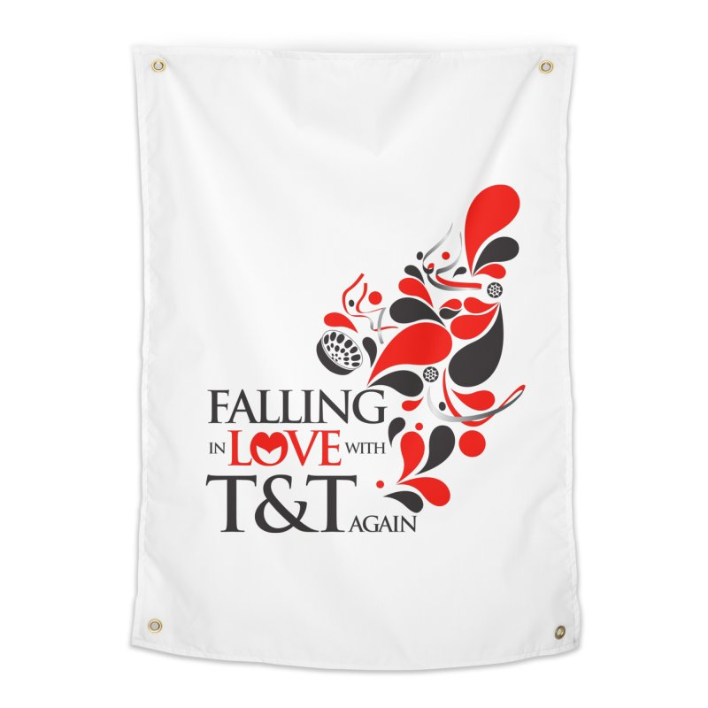 Falling in Love Main logo Home Tapestry by WACK 90.1fm Merchandise Store