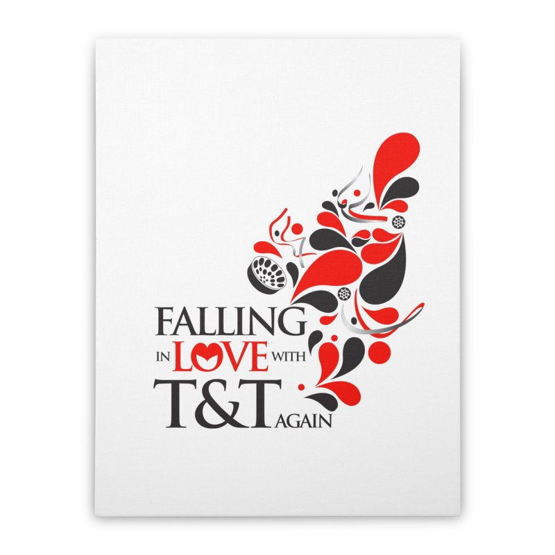 Falling in Love Main logo Home Stretched Canvas by WACK 90.1fm Merchandise Store