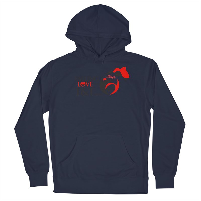 Falling in Love with TT - Round logo with hearts Men's Pullover Hoody by WACK 90.1fm Merchandise Store