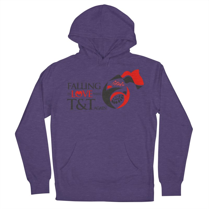 Falling in Love with TT - Round logo with hearts Women's French Terry Pullover Hoody by WACK 90.1fm Merchandise Store