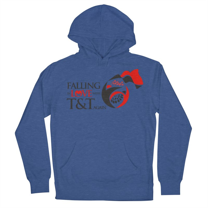 Falling in Love with TT - Round logo with hearts Men's French Terry Pullover Hoody by WACK 90.1fm Merchandise Store