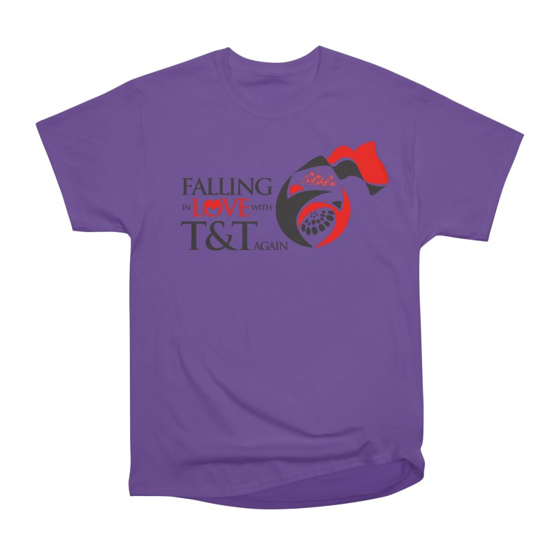 Falling in Love with TT - Round logo with hearts Men's Heavyweight T-Shirt by WACK 90.1fm Merchandise Store