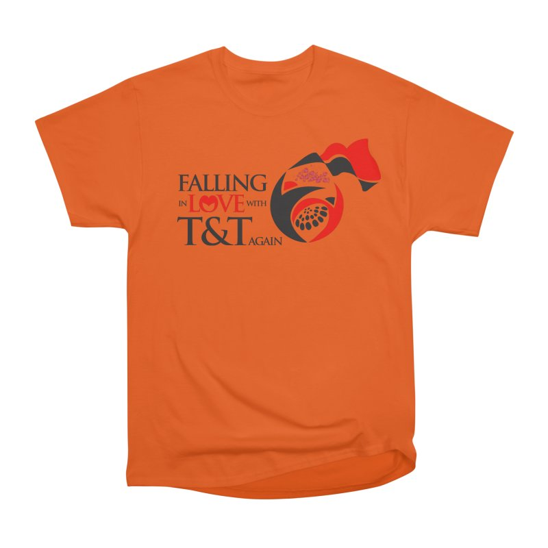 Falling in Love with TT - Round logo with hearts Women's Heavyweight Unisex T-Shirt by WACK 90.1fm Merchandise Store