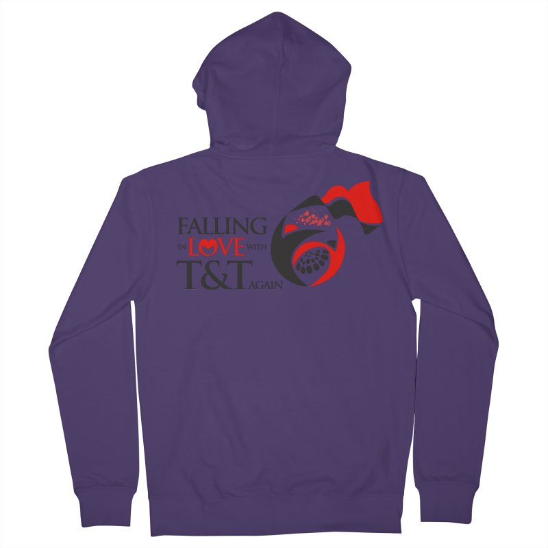 Falling in Love with TT - Round logo with hearts Women's French Terry Zip-Up Hoody by WACK 90.1fm Merchandise Store