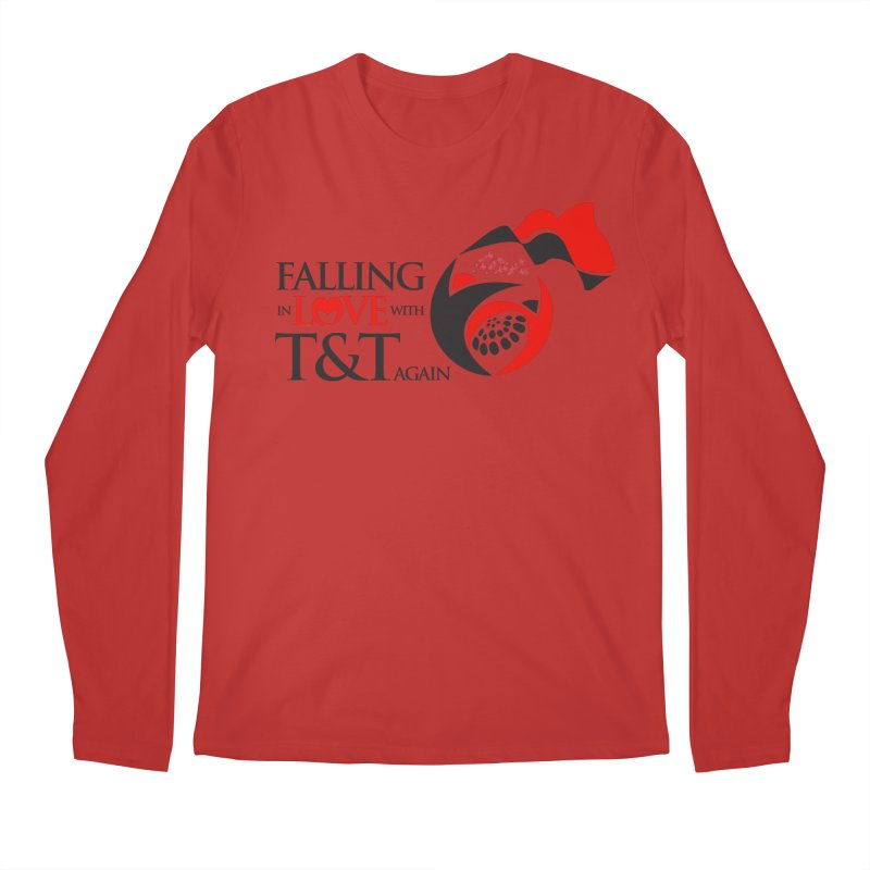 Falling in Love with TT - Round logo with hearts Men's Regular Longsleeve T-Shirt by WACK 90.1fm Merchandise Store