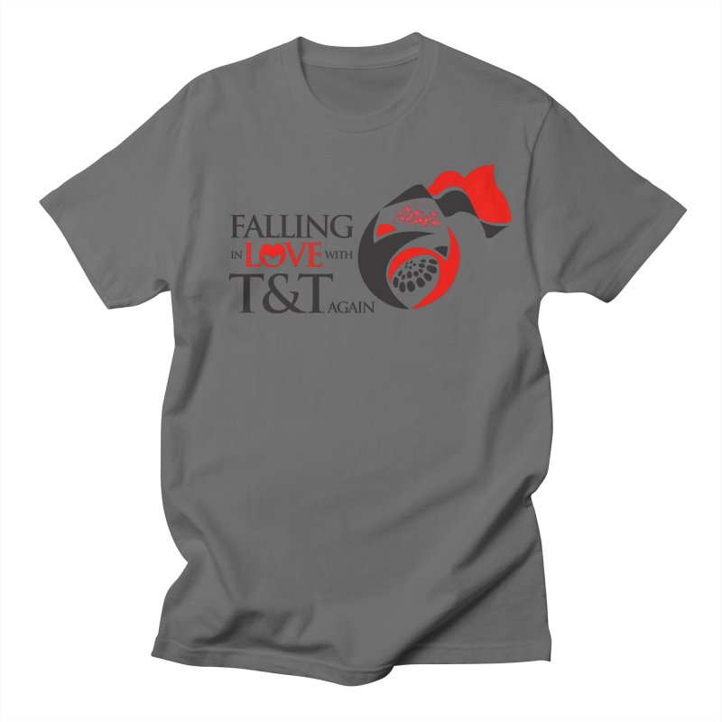 Falling in Love with TT - Round logo with hearts Men's Regular T-Shirt by WACK 90.1fm Merchandise Store