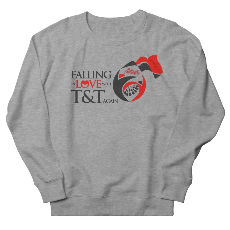 Falling in Love with TT - Round logo with hearts Men's Sweatshirt by WACK 90.1fm Merchandise Store
