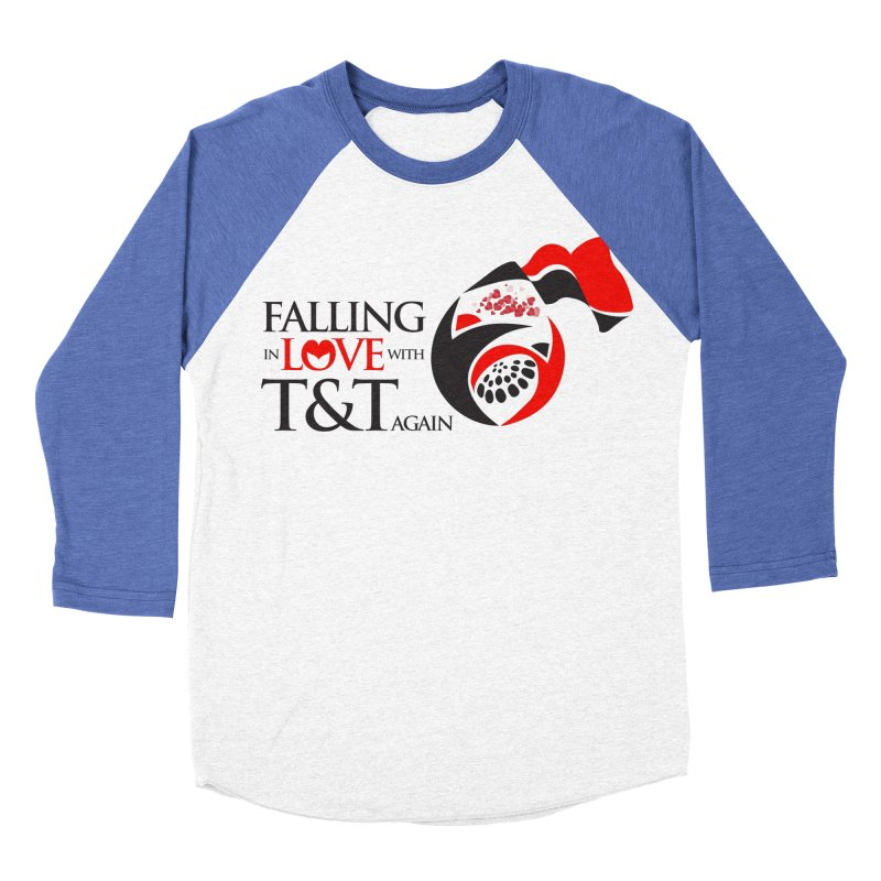Falling in Love with TT - Round logo with hearts Women's Baseball Triblend Longsleeve T-Shirt by WACK 90.1fm Merchandise Store