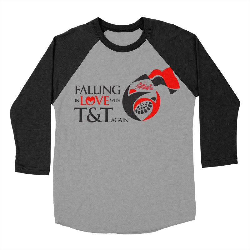 Falling in Love with TT - Round logo with hearts Men's Baseball Triblend Longsleeve T-Shirt by WACK 90.1fm Merchandise Store