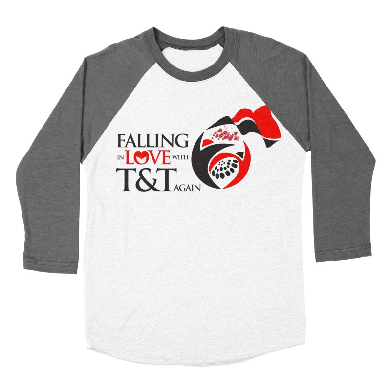 Falling in Love with TT - Round logo with hearts Men's Baseball Triblend T-Shirt by WACK 90.1fm Merchandise Store