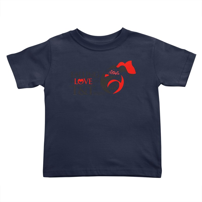 Falling in Love with TT - Round logo with hearts Kids Toddler T-Shirt by WACK 90.1fm Merchandise Store