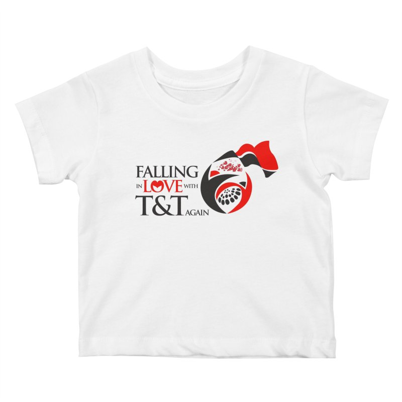 Falling in Love with TT - Round logo with hearts Kids Baby T-Shirt by WACK 90.1fm Merchandise Store