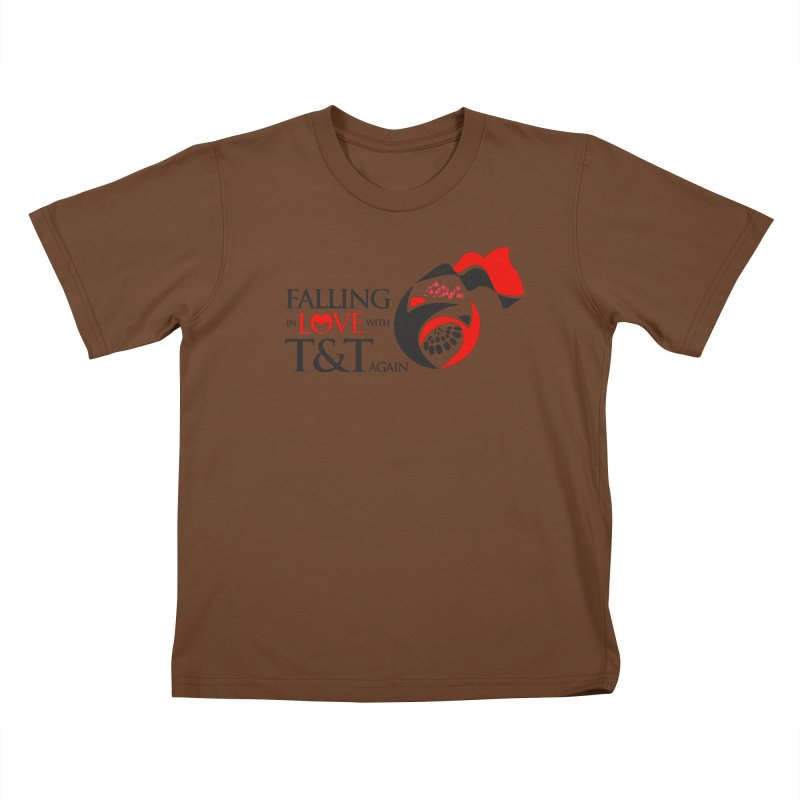 Falling in Love with TT - Round logo with hearts Kids T-Shirt by WACK 90.1fm Merchandise Store