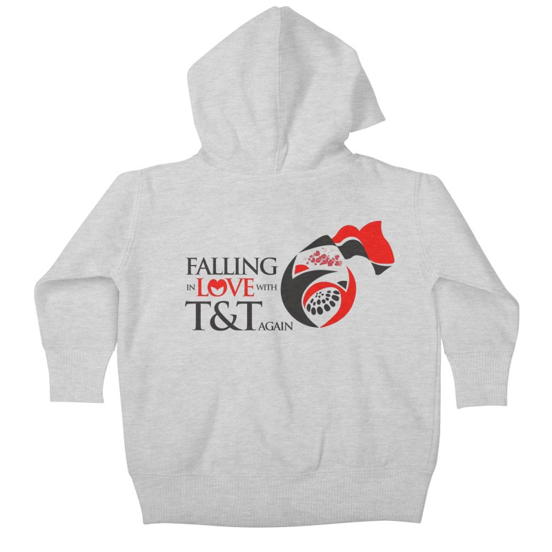 Falling in Love with TT - Round logo with hearts Kids Baby Zip-Up Hoody by WACK 90.1fm Merchandise Store