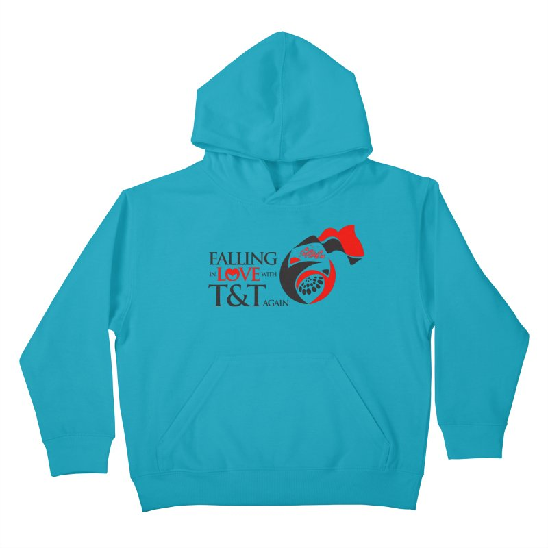 Falling in Love with TT - Round logo with hearts Kids Pullover Hoody by WACK 90.1fm Merchandise Store