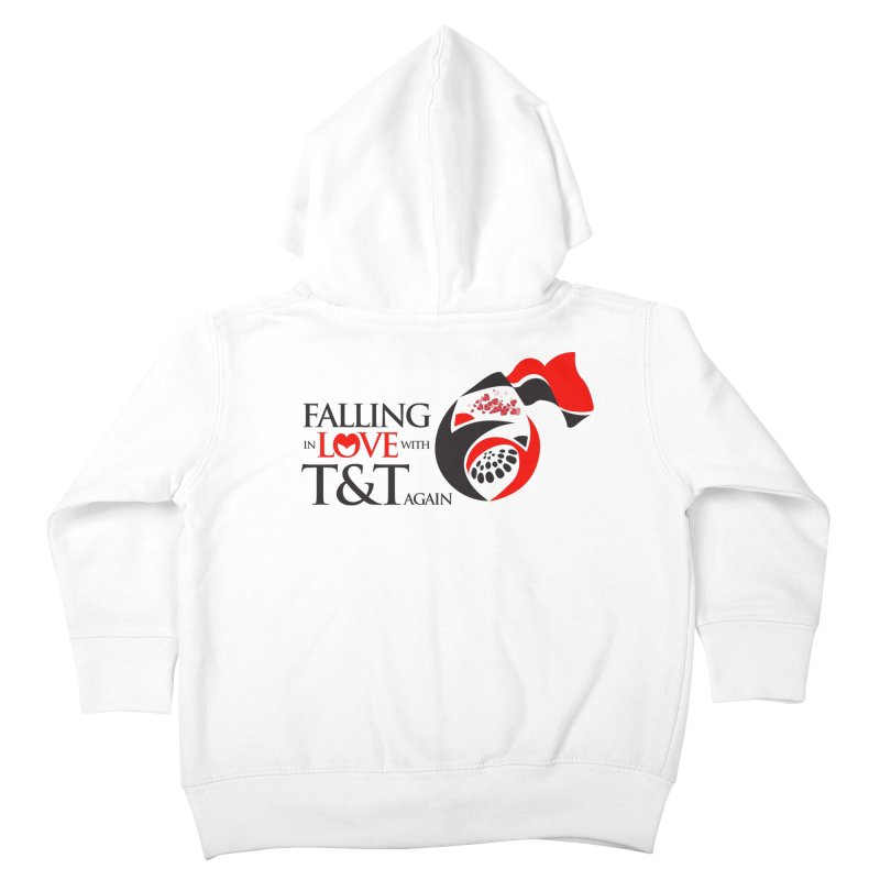 Falling in Love with TT - Round logo with hearts Kids Toddler Zip-Up Hoody by WACK 90.1fm Merchandise Store