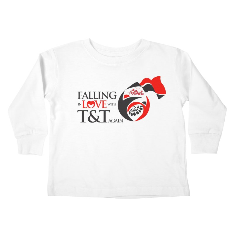 Falling in Love with TT - Round logo with hearts Kids Toddler Longsleeve T-Shirt by WACK 90.1fm Merchandise Store