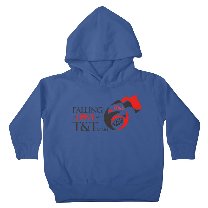 Falling in Love with TT - Round logo with hearts Kids Toddler Pullover Hoody by WACK 90.1fm Merchandise Store
