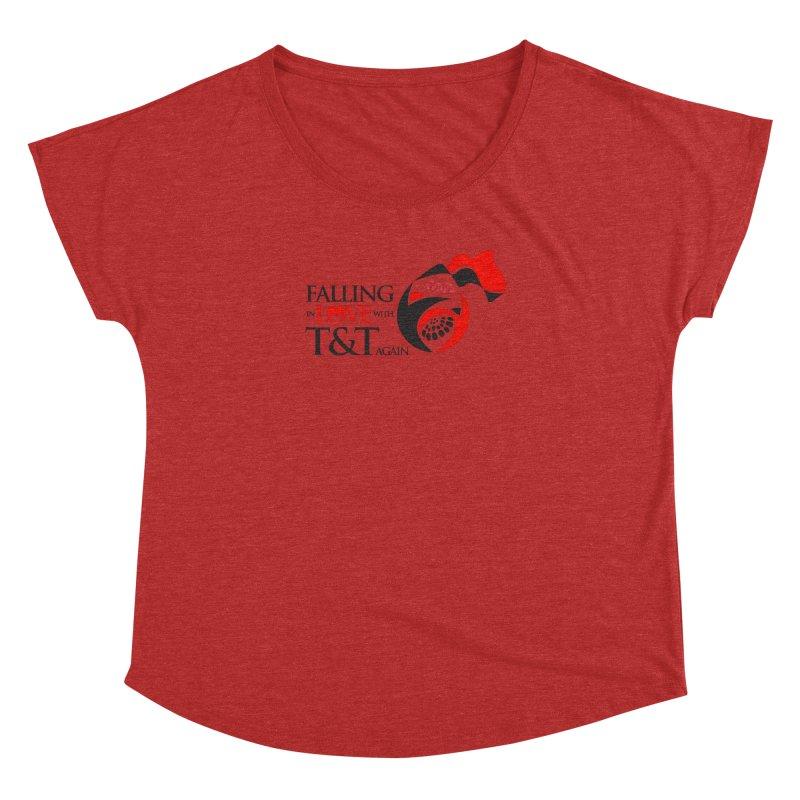 Falling in Love with TT - Round logo with hearts Women's Dolman by WACK 90.1fm Merchandise Store