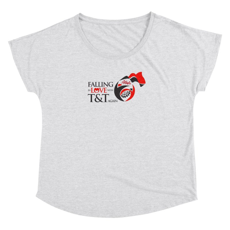 Falling in Love with TT - Round logo with hearts Women's Dolman Scoop Neck by WACK 90.1fm Merchandise Store