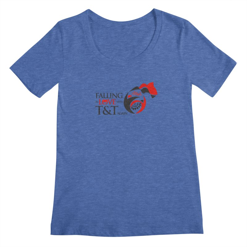 Falling in Love with TT - Round logo with hearts Women's Regular Scoop Neck by WACK 90.1fm Merchandise Store