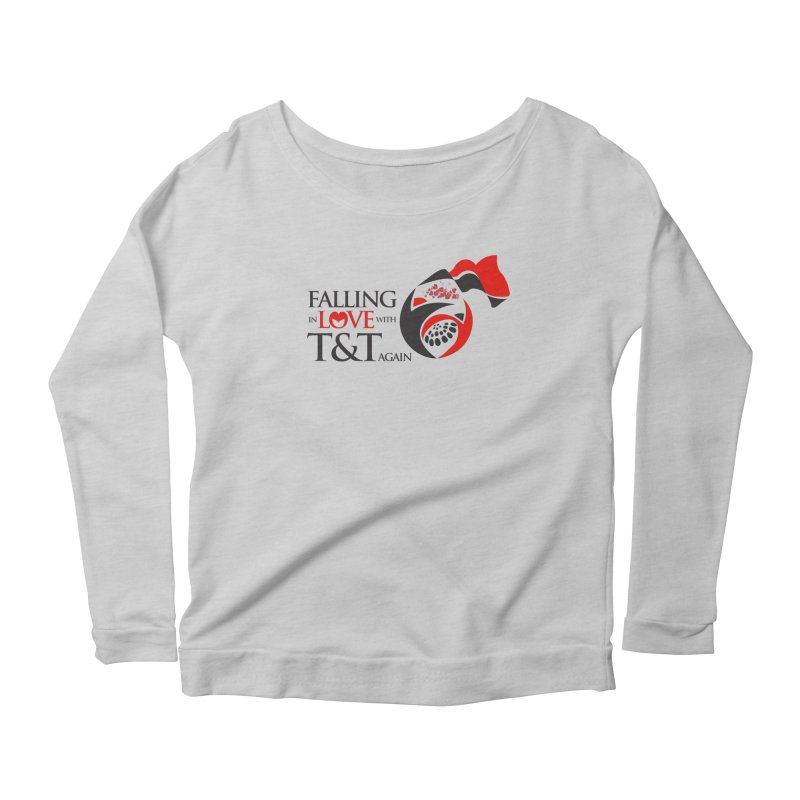 Falling in Love with TT - Round logo with hearts Women's Scoop Neck Longsleeve T-Shirt by WACK 90.1fm Merchandise Store