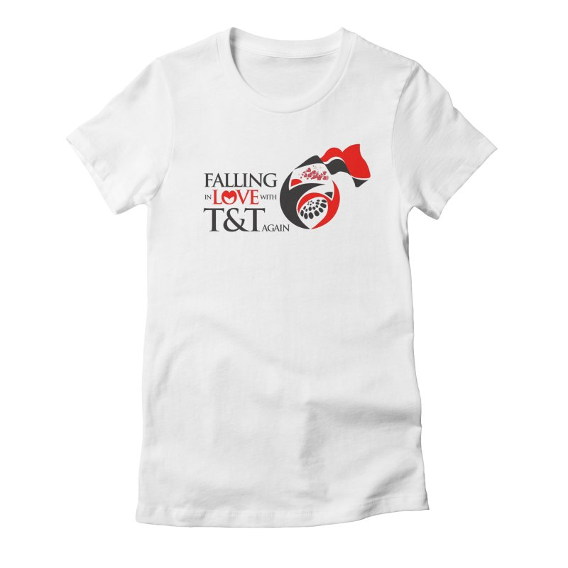Falling in Love with TT - Round logo with hearts Women's Fitted T-Shirt by WACK 90.1fm Merchandise Store