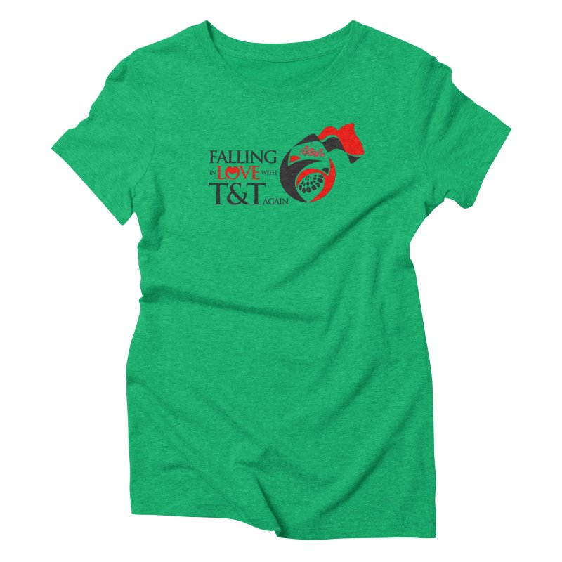 Falling in Love with TT - Round logo with hearts Women's Triblend T-Shirt by WACK 90.1fm Merchandise Store