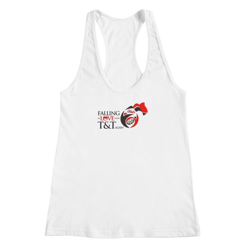 Falling in Love with TT - Round logo with hearts Women's Racerback Tank by WACK 90.1fm Merchandise Store