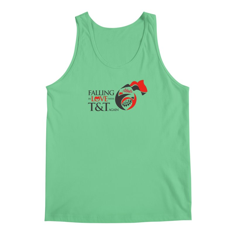 Falling in Love with TT - Round logo with hearts Men's Regular Tank by WACK 90.1fm Merchandise Store