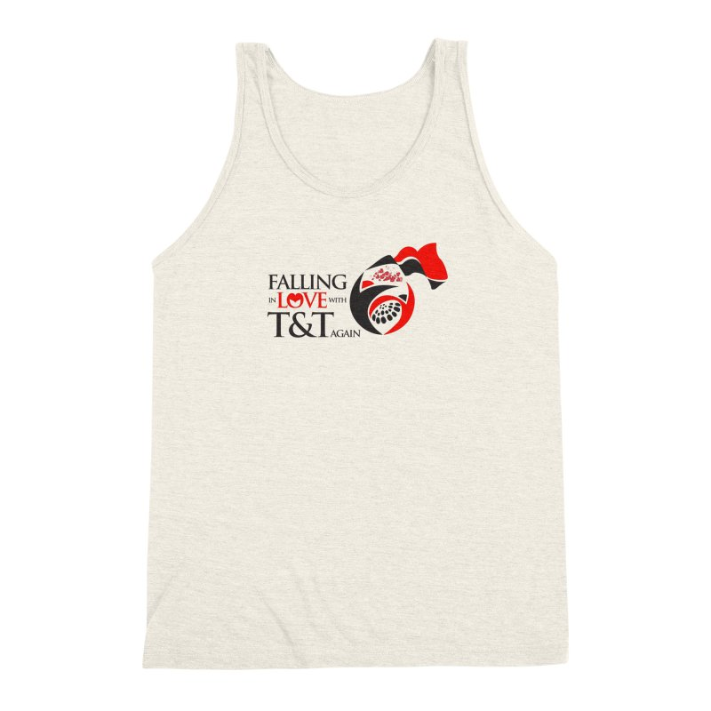 Falling in Love with TT - Round logo with hearts Men's Triblend Tank by WACK 90.1fm Merchandise Store