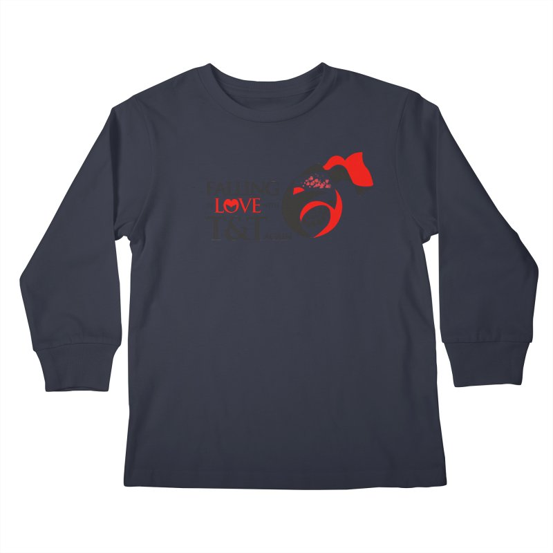 Falling in Love with TT - Round logo with hearts Kids Longsleeve T-Shirt by WACK 90.1fm Merchandise Store
