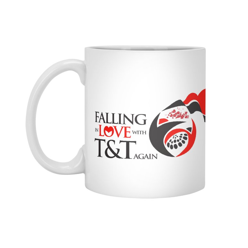 Falling in Love with TT - Round logo with hearts Accessories Mug by WACK 90.1fm Merchandise Store