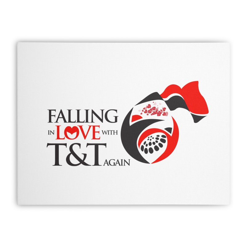 Falling in Love with TT - Round logo with hearts Home Stretched Canvas by WACK 90.1fm Merchandise Store