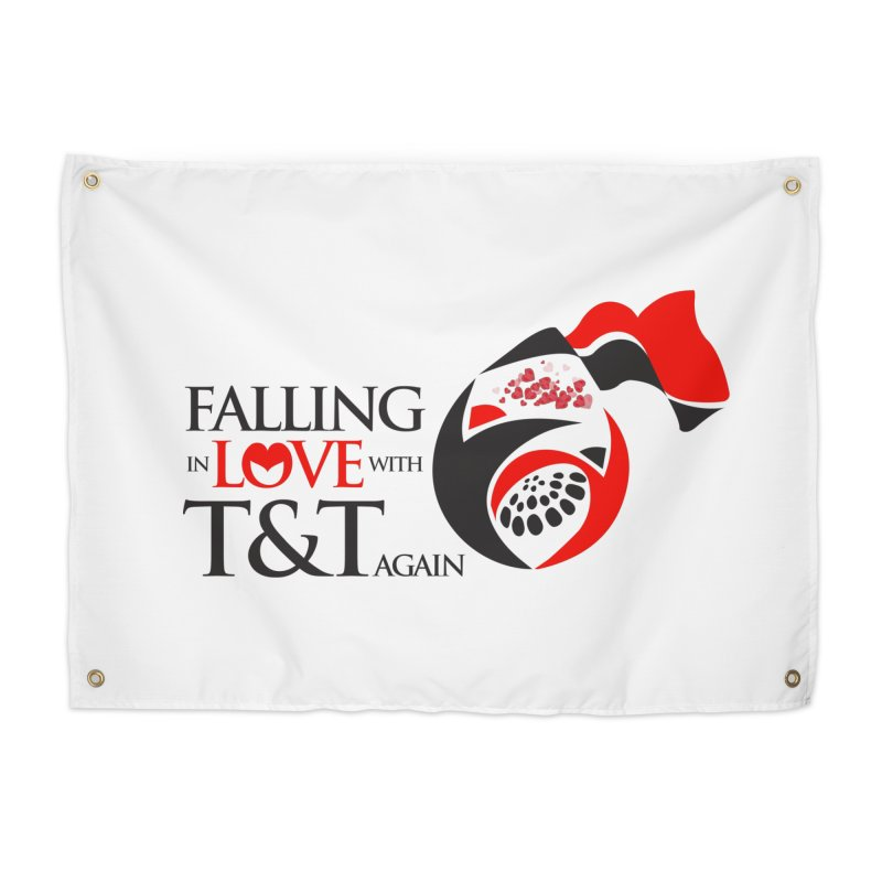 Falling in Love with TT - Round logo with hearts Home Tapestry by WACK 90.1fm Merchandise Store