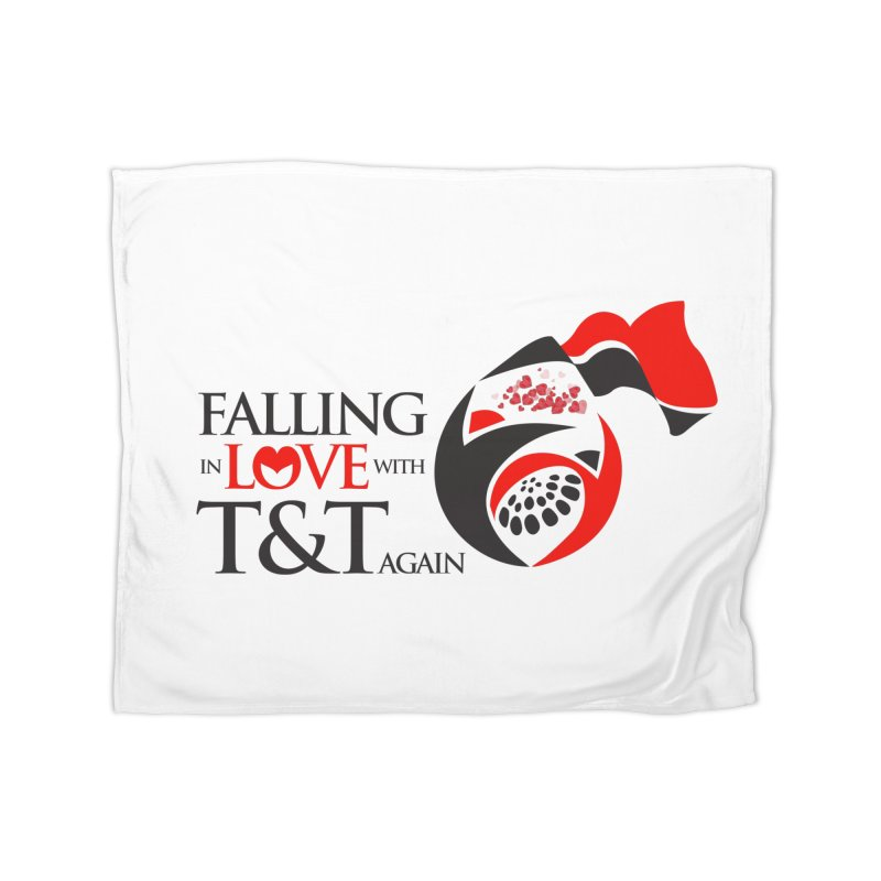 Falling in Love with TT - Round logo with hearts Home Blanket by WACK 90.1fm Merchandise Store