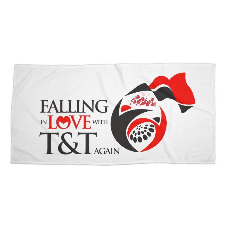 Falling in Love with TT - Round logo with hearts Accessories Beach Towel by WACK 90.1fm Merchandise Store