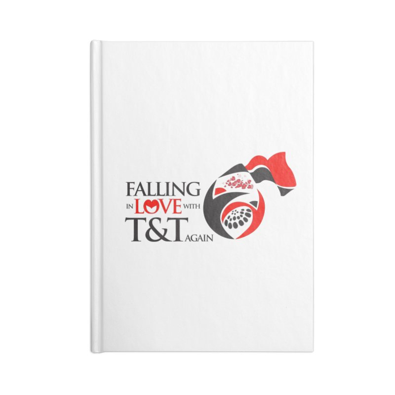 Falling in Love with TT - Round logo with hearts Accessories Notebook by WACK 90.1fm Merchandise Store