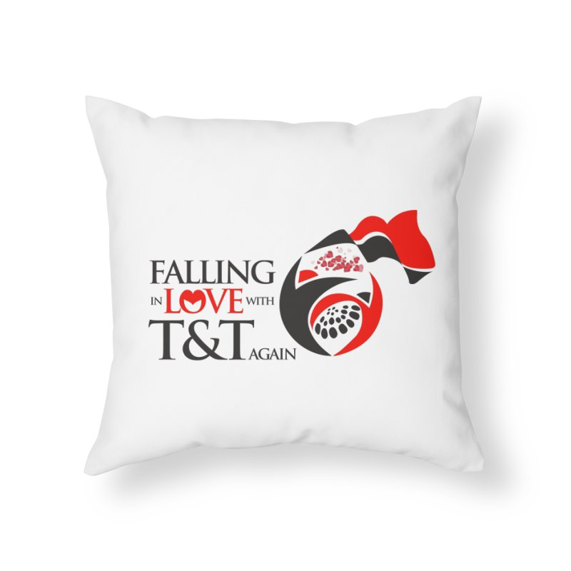 Falling in Love with TT - Round logo with hearts Home Throw Pillow by WACK 90.1fm Merchandise Store