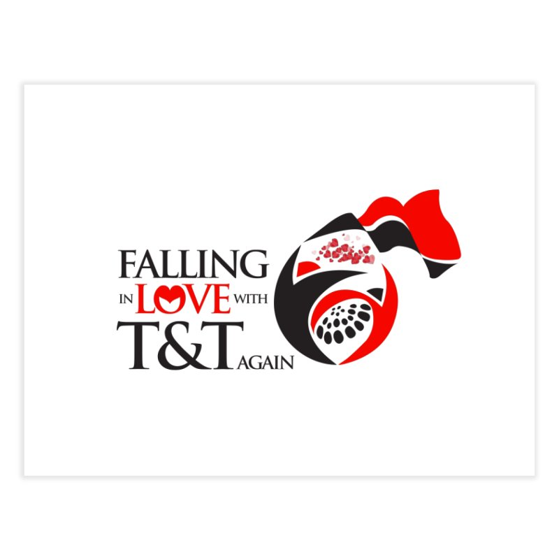 Falling in Love with TT - Round logo with hearts Home Fine Art Print by WACK 90.1fm Merchandise Store