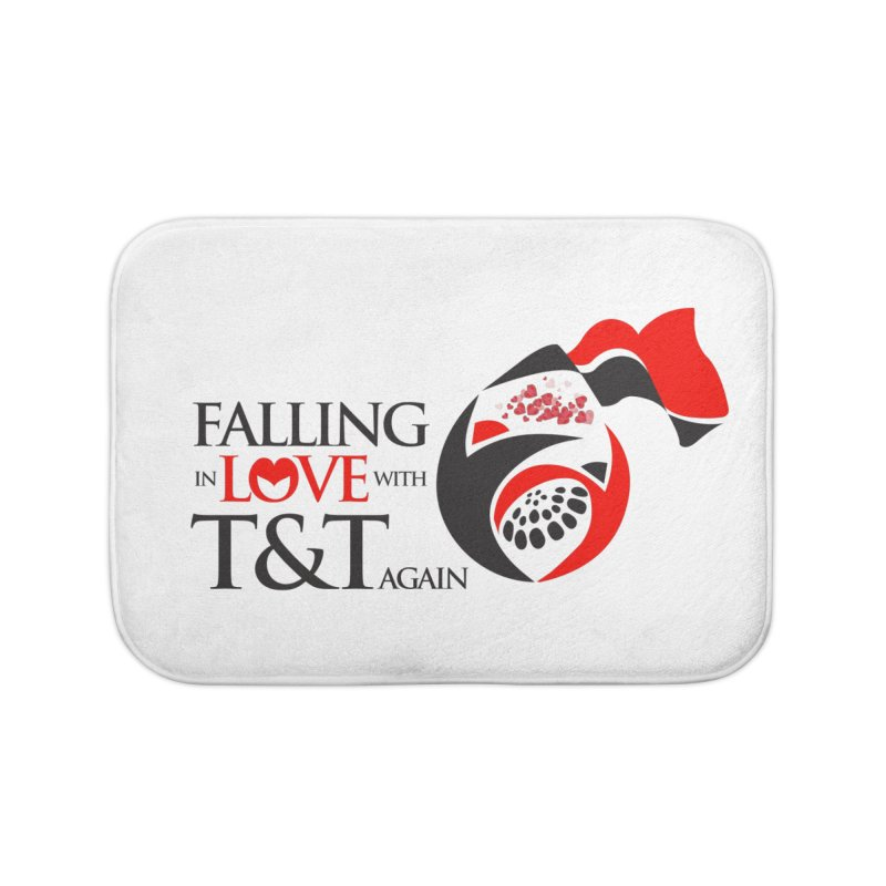 Falling in Love with TT - Round logo with hearts Home Bath Mat by WACK 90.1fm Merchandise Store
