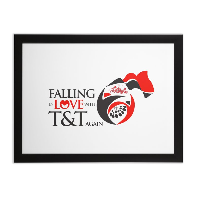 Falling in Love with TT - Round logo with hearts Home Framed Fine Art Print by WACK 90.1fm Merchandise Store
