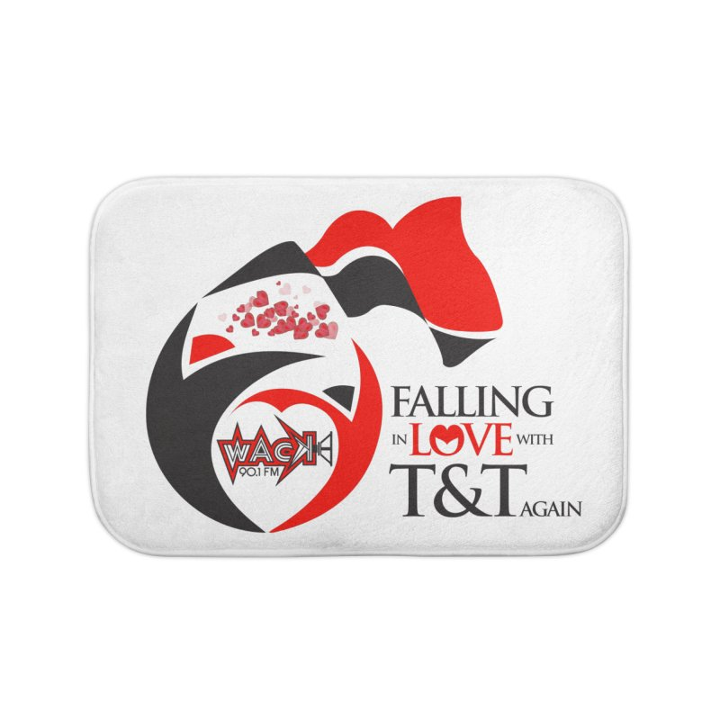 Fallin in Love with T&T Round Logo 2 Home Bath Mat by WACK 90.1fm Merchandise Store