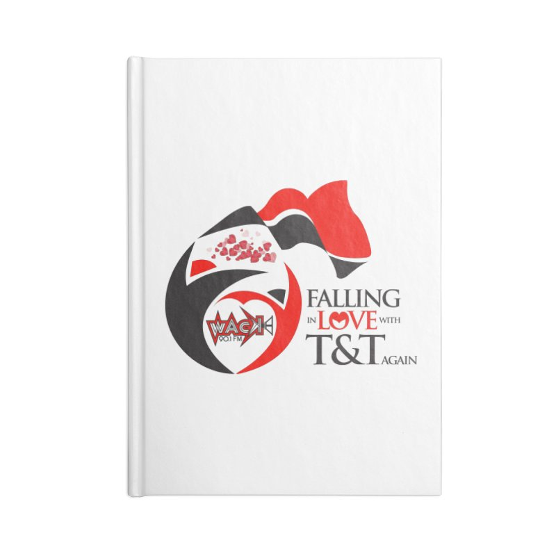 Fallin in Love with T&T Round Logo 2 Accessories Notebook by WACK 90.1fm Merchandise Store